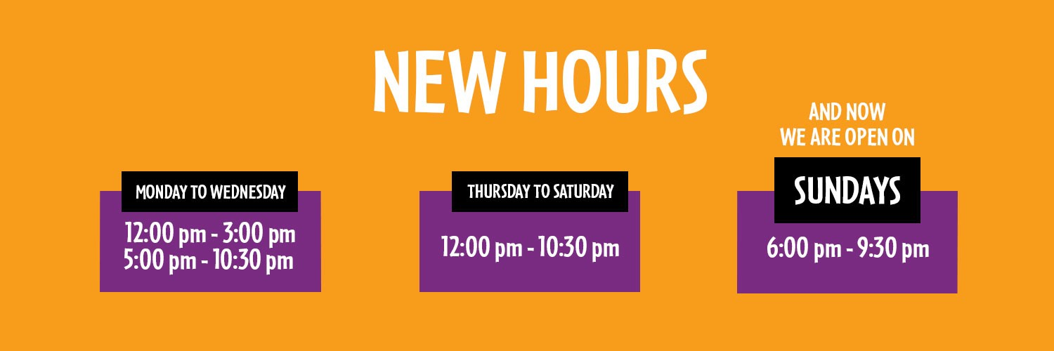 New hours at 12 Western Road